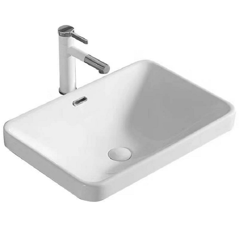 WB 5237A NERO Semi-Insert Rectangular Basin