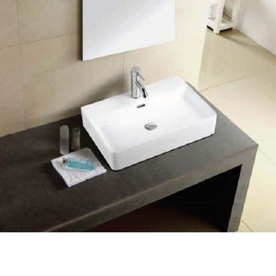 WB 6042 600MM WIDE BRAVO Above Counter Basin 600mm