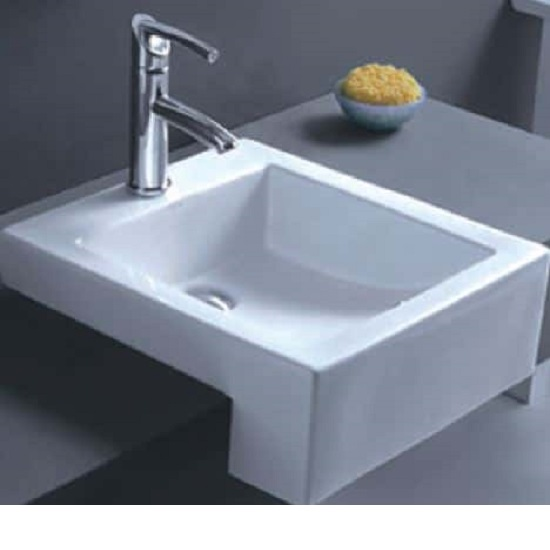WB 4076C MASSIMO Semi-Recess Square Basin