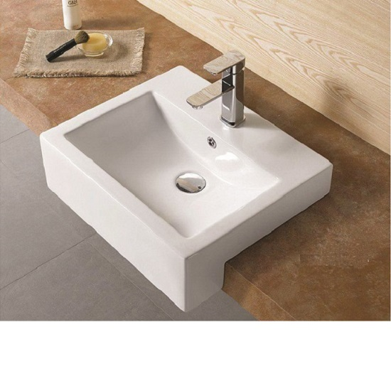 WB 5243C FABBRIS II Semi-Recess Square Basin