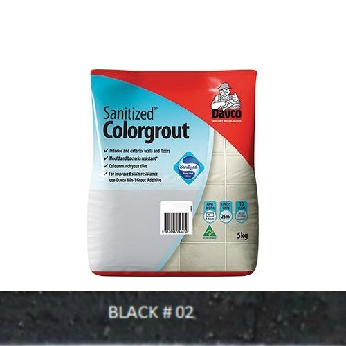 Sanitized® Colorgrout - 02 Black 1.5kg