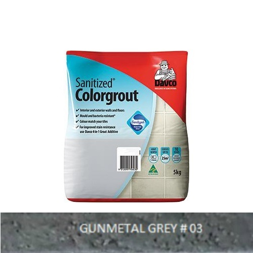 Sanitized® Colorgrout - 03 Gunmetal Grey 1.5kg