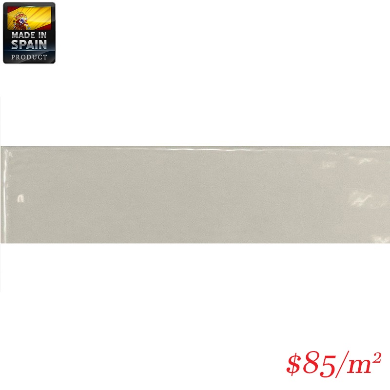 EQU0008 COTTAGE SUBWAY LIGHT GREY GLOSS 75X300MM Made In Spain