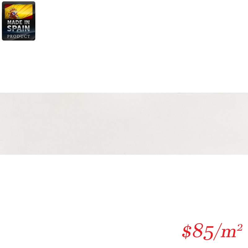 EQU0009 COTTAGE SUBWAY WHITE MATT 75X300MM Made In Spain