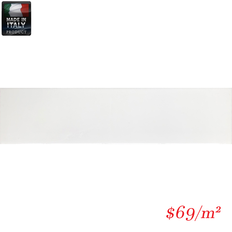 IMO0028 BUBBLE WHITE GLOSS PLAIN 75X300MM V1 BBBLTU73W MADE IN ITALY