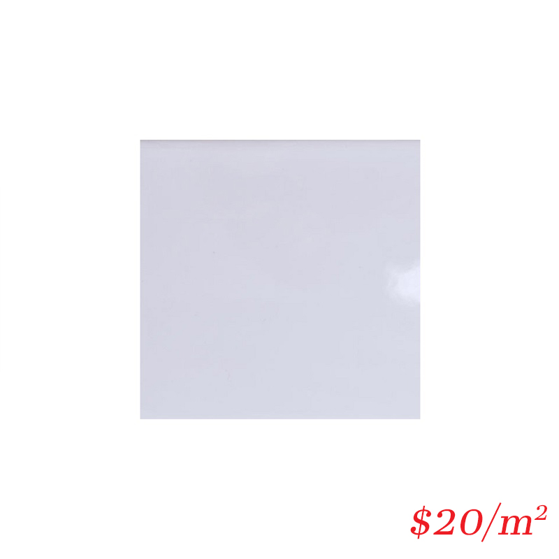 LEO0014 PLAIN WHITE GLOSS 200*200MM