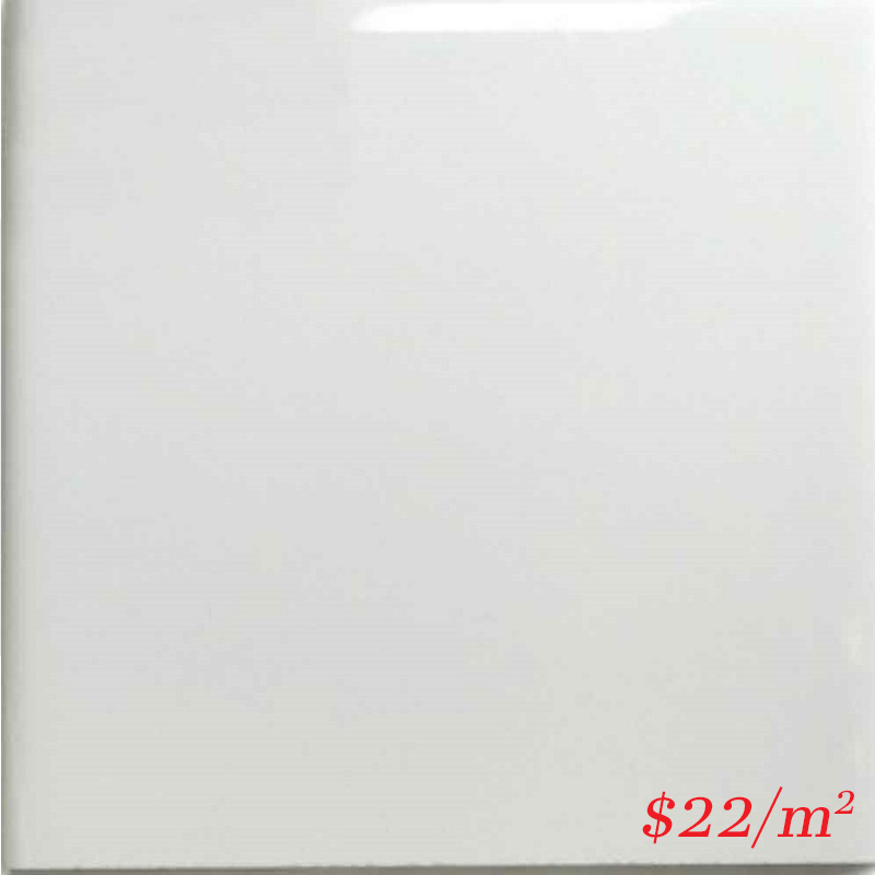 LEO0026 SUBWAY PLAIN WHITE GLOSS 150X150MM