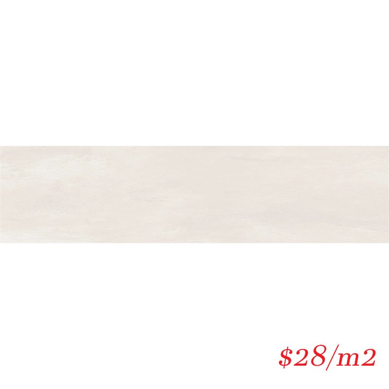 LEO0043 URBAN SUBWAY PLAIN WHITE MATT 75X300MM