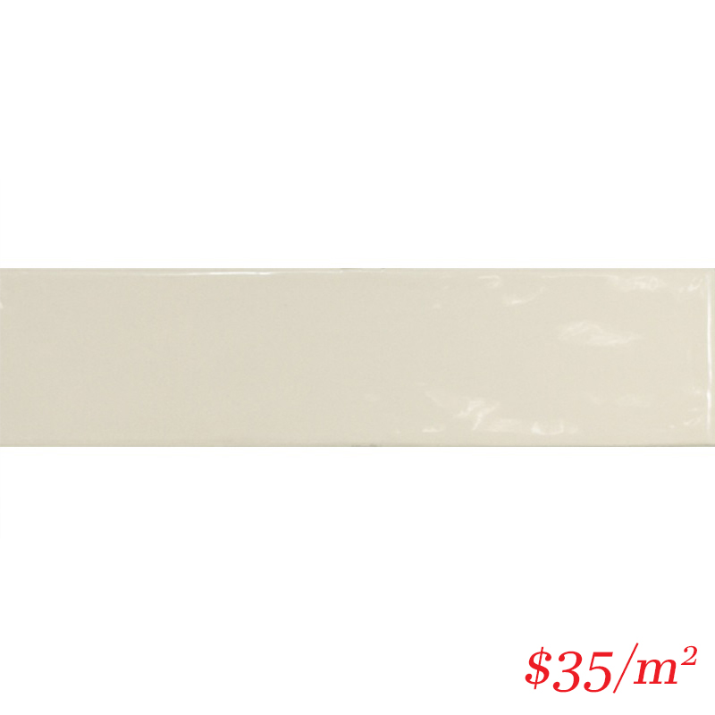 LEO0051 LODGE SUBWAY GLOSS CREAM 75X300MM