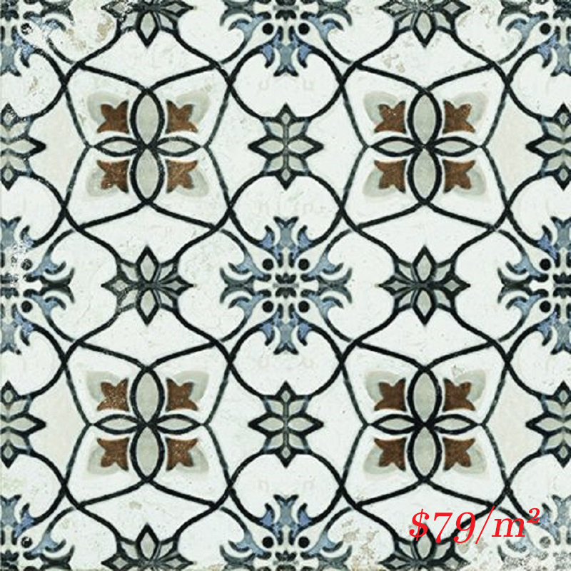 MARI0032 VINTAGE DECOR 7 BLU 200X200MM VINDEC7 MADE IN ITALY