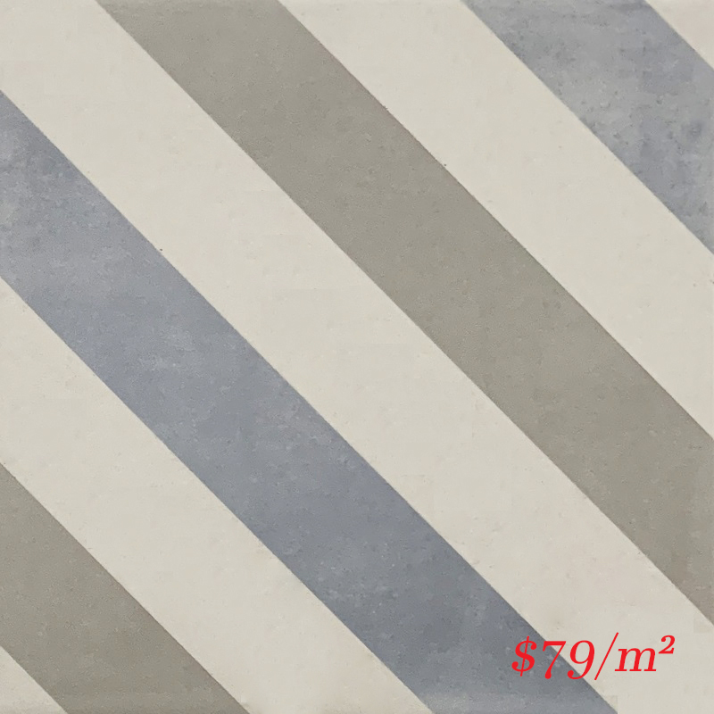 MARI0034 VINTAGE DECOR 13 STRIPE 200X200MM VINDEC13 MADE IN ITALY
