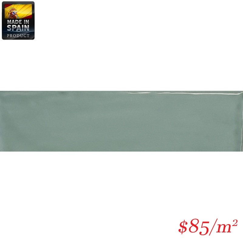 EQU0012 COTTAGE SUBWAY JADE GLOSS 75X300MM Made In Spain