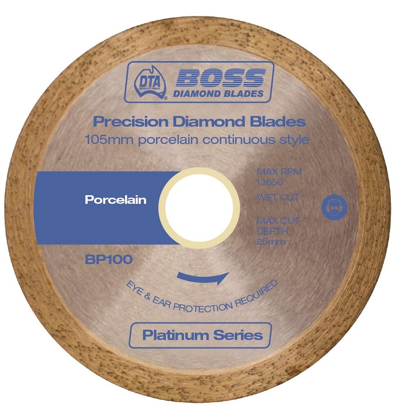 "BP100 DIAMOND BLADE - PORCELAIN 4"" BOSS"