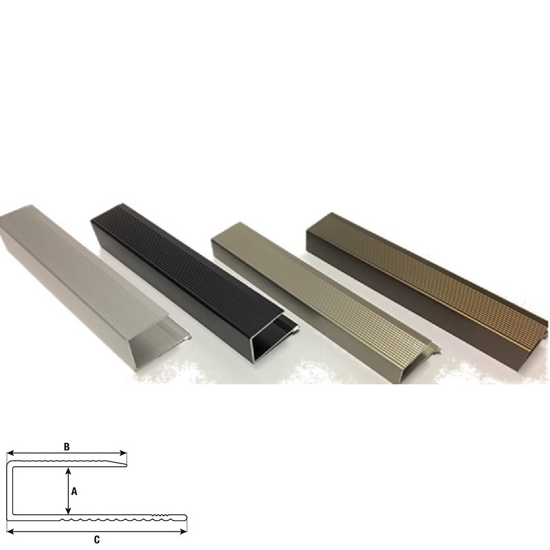 LFEC33.13MB EDGE COVER FOR LAMINATED FLOOR 3.3M x 13MM MATT BRONZE