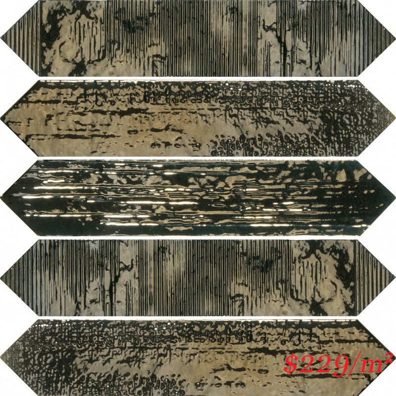 187780 CRACKLE DECOR METAL GLOSS 65X330mm Spain Made