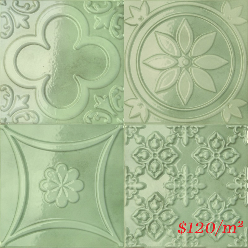 188089 LUCCIOLA MENTA GLOSS 150X150mm Spain Made