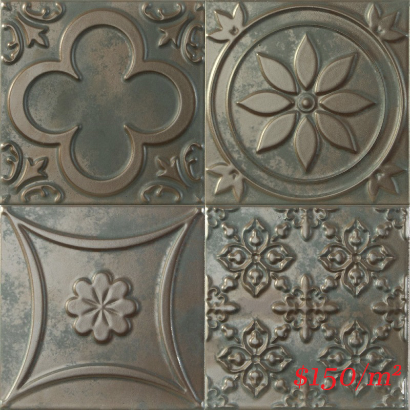 188093 LUCCIOLA BRONCE MATT 150X150mm Spain Made