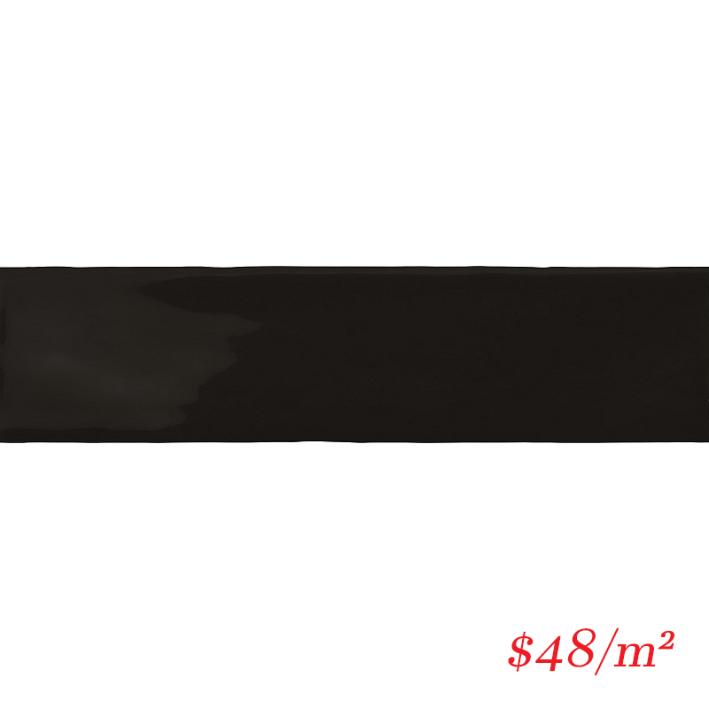 BLOBLA50200 BLOCK BLACK GLOSS 50X200MM