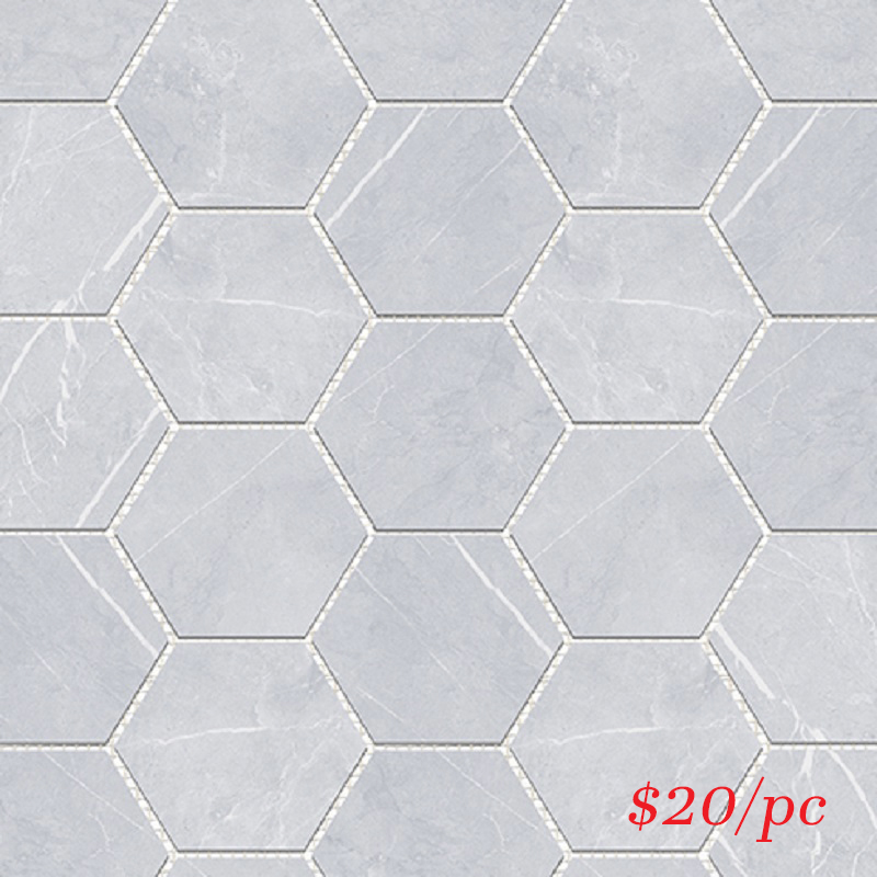 BRABIAHEX BRACCA BIANCO HEXAGON 100X100MM (292X252MM)