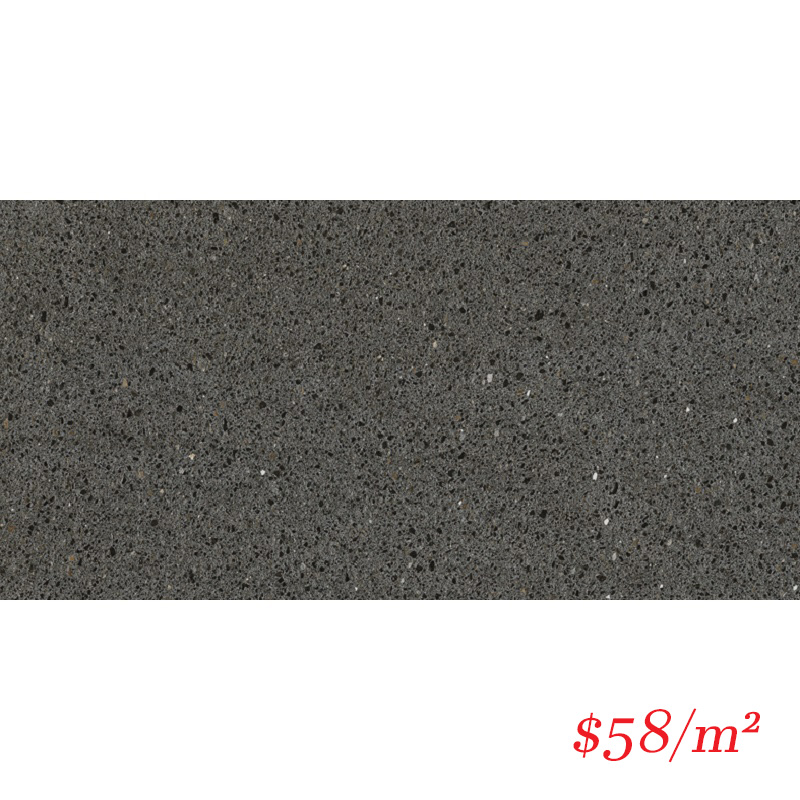 36QUABKM Q4-QZ1367 QUARRAZZO BASALT BLACK MATT 300X600MM