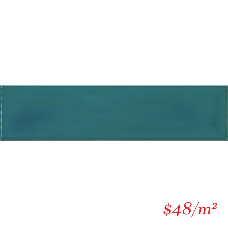 MERTEG13 HAM07G-W MEREWEATHER TEAL WAVY GLOSS 68X280MM