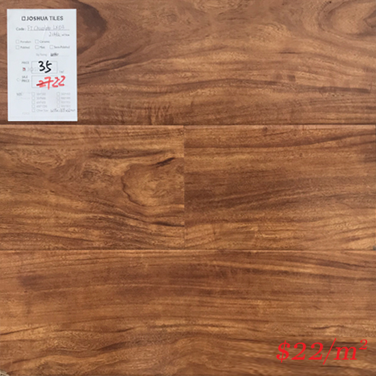 PINACO 12MM LAMINATE FLOOR - LX03 Chocolate Gloss