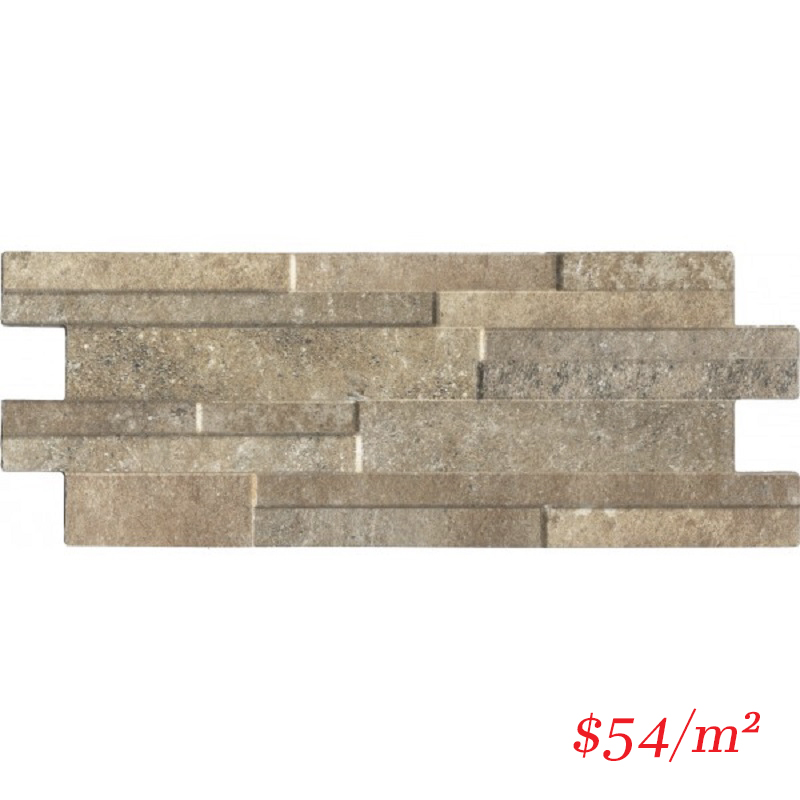 PO-IT-QZ-CLY-4016 ITALIAN Porcelain Stoneware QUARZO CLAY 400x160MM