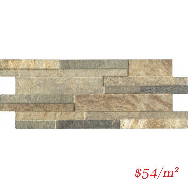 PO-IT-QZ-GLD-4016 ITALIAN Porcelain Stoneware QUARZO GOLD 400x160MM