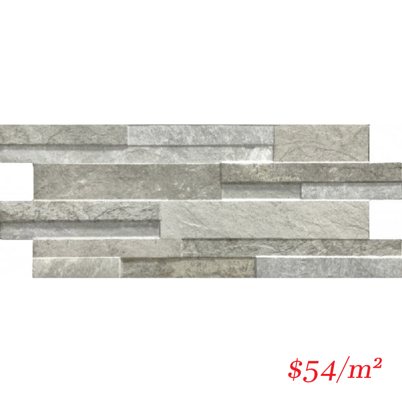 PO-IT-QZ-GRY-4016 ITALIAN Porcelain Stoneware QUARZO GREY 400x160MM