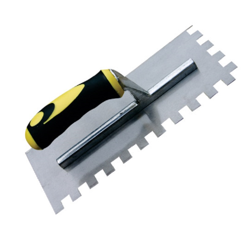 RDXT214 Stainless Steel Square Notched Maxi Grip Trowel 8mm
