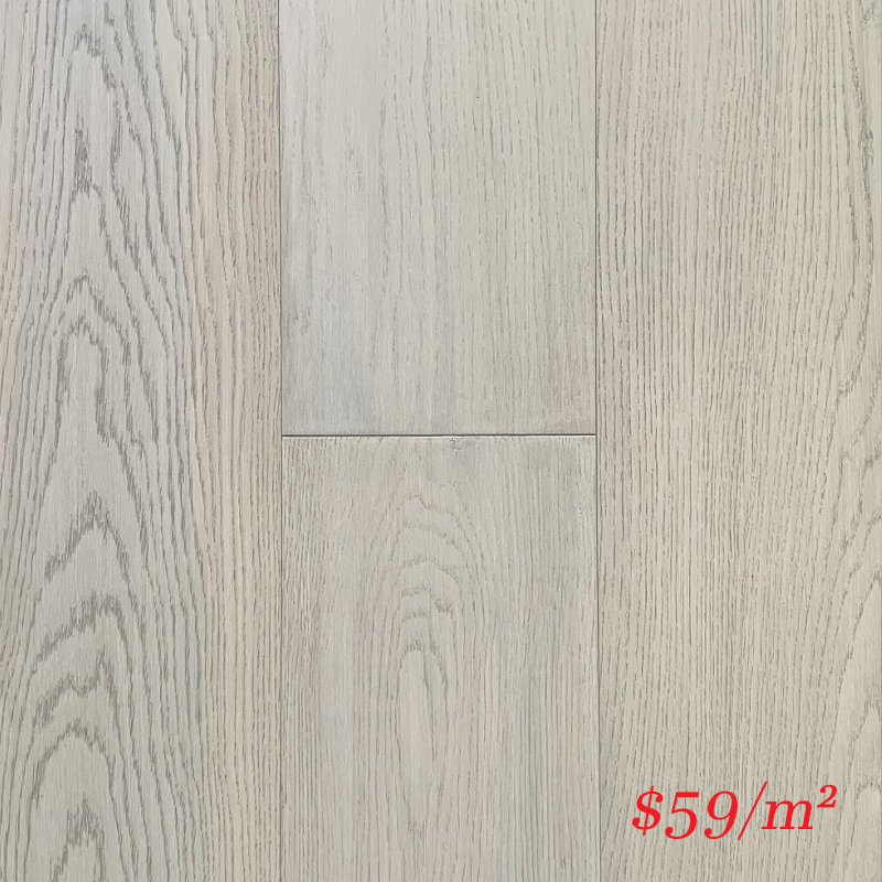 SUNSTAR ENGINEERED RIGID CORE TIMBER FLOOR - 1911 WHITE SPLASH OAK