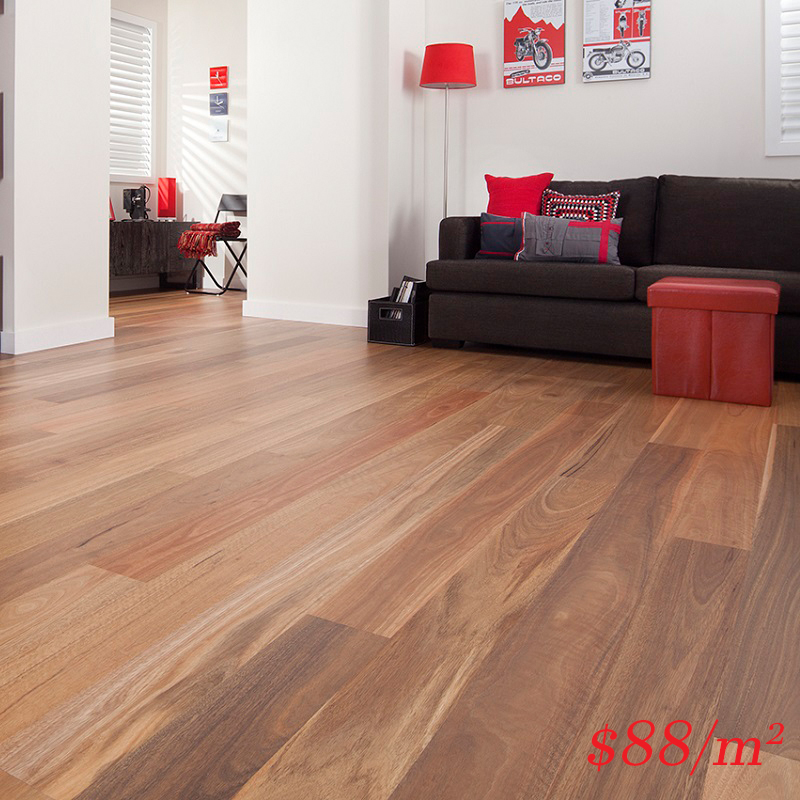 Barrington Australian Timber Hardwood Range - 136mm Spotted Gum Matt