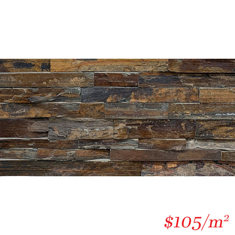 Stackstone - Chunky Bronzed Ember Flat 600×150×10-35mm