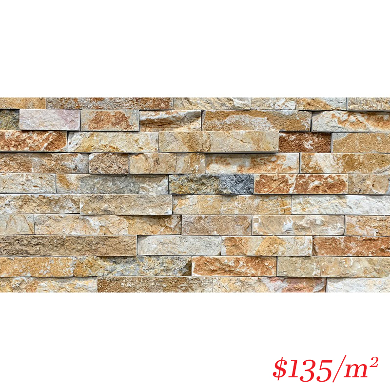 Stackstone - Chunky Golden Field Flat 600×150×10-35mm