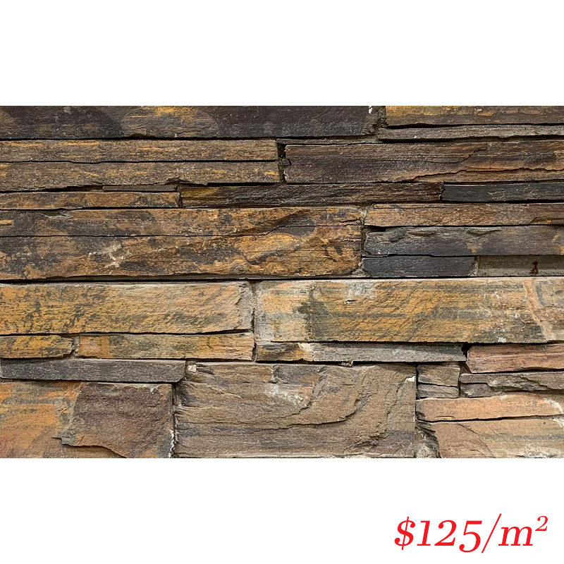 Stackstone - Dry Panel Bronzed Ember Flat 600×150×30-60mm