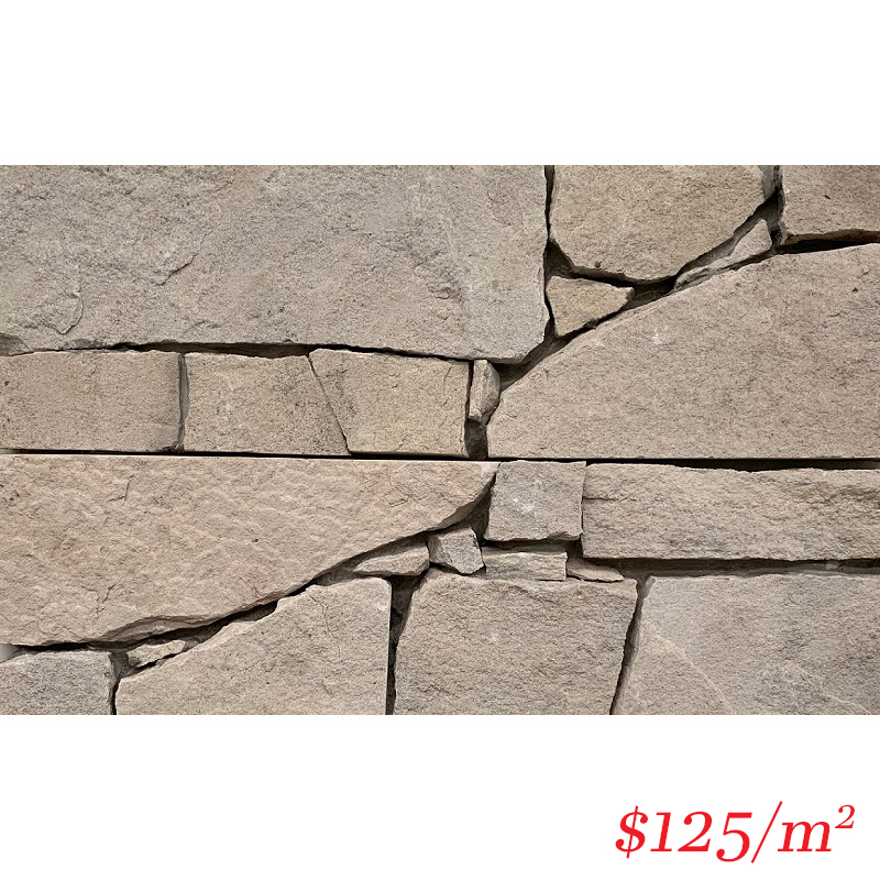 Stackstone - Dry Panel Snow White Flat 600×200×10-35mm
