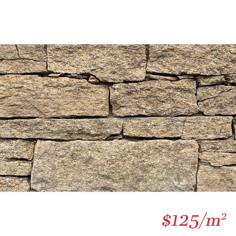 Stackstone - Dry Panel Temple Sands Flat 600×150×30-60mm