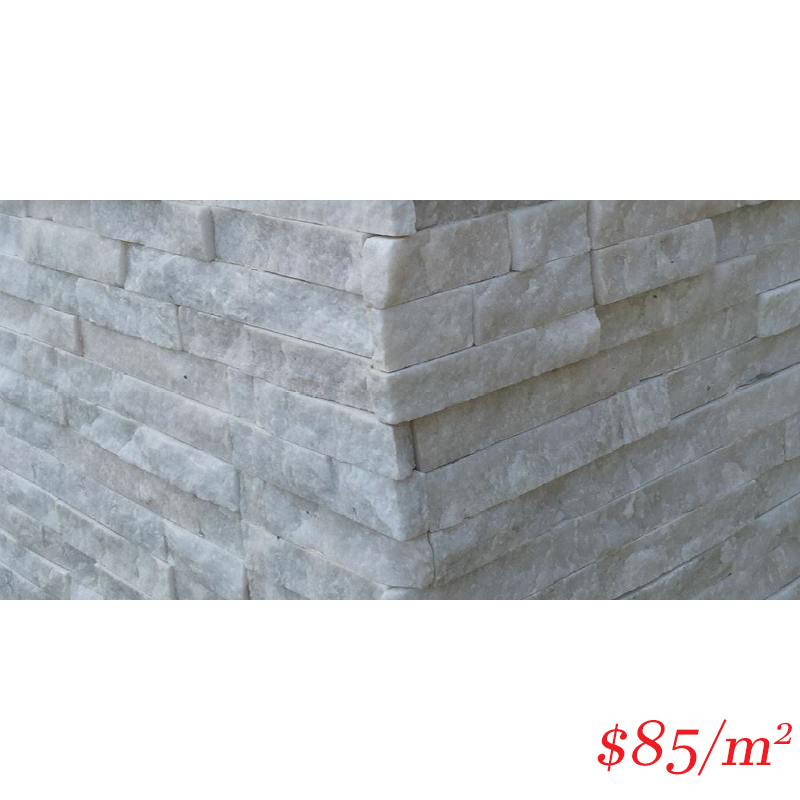 Stackstone - Ice White Corner 500×150×10-25mm