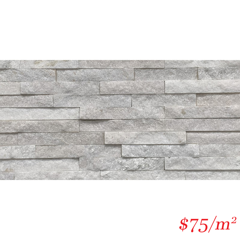 Stackstone - Ice White Flat 600×150×10-35mm