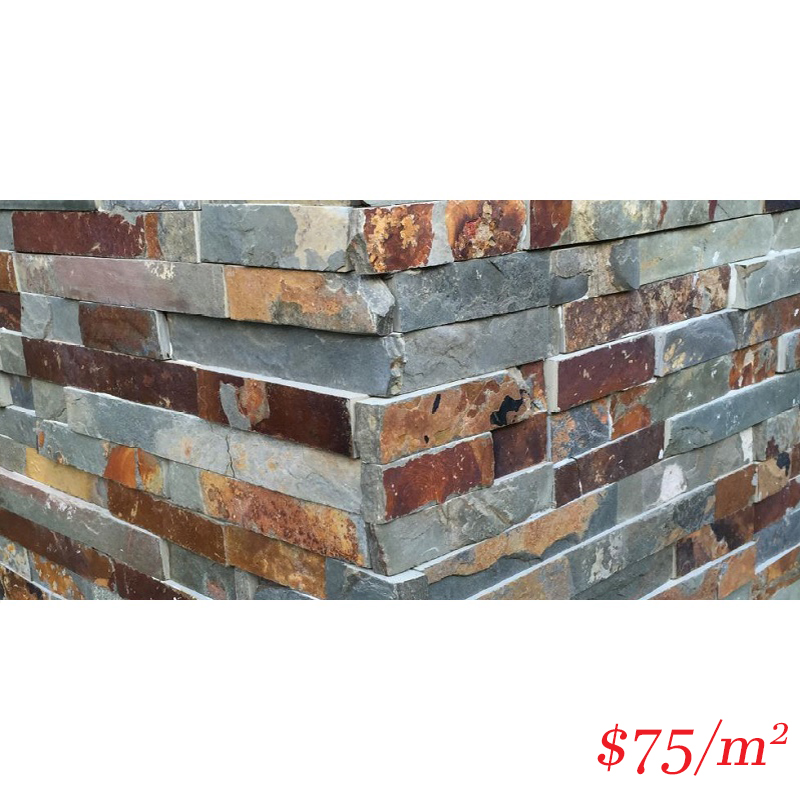 Stackstone - Rustic Charcoal Corner 500×150×10-25mm