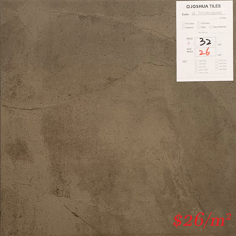 T/CEMEBRE45 MML C-MENT BROWN EXTERNAL 450*450MM