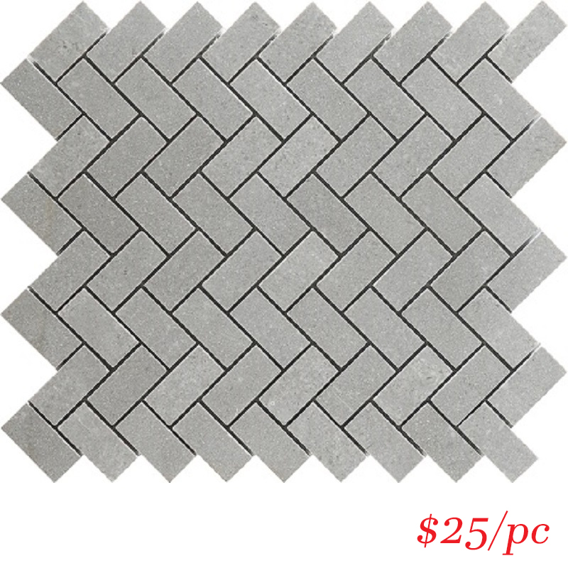 MOSAIC - T/LAGRSHER8 ENTIVA STONE HERRINGBONE LADY GREY 276*288mm
