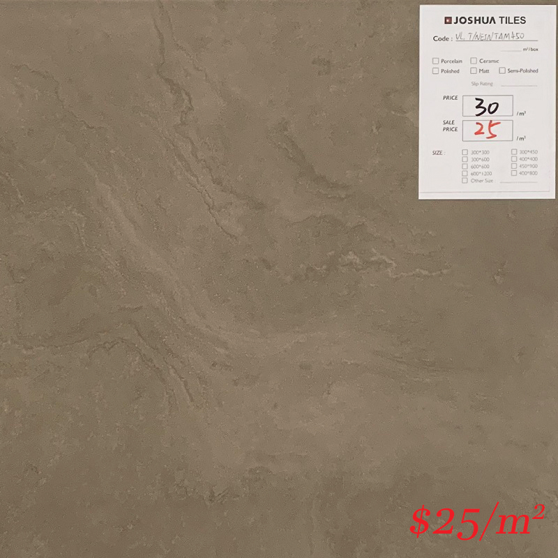 T/NEINTAG450 GUOCERA NEO INDI TAUPE GLOSS 450*450MM