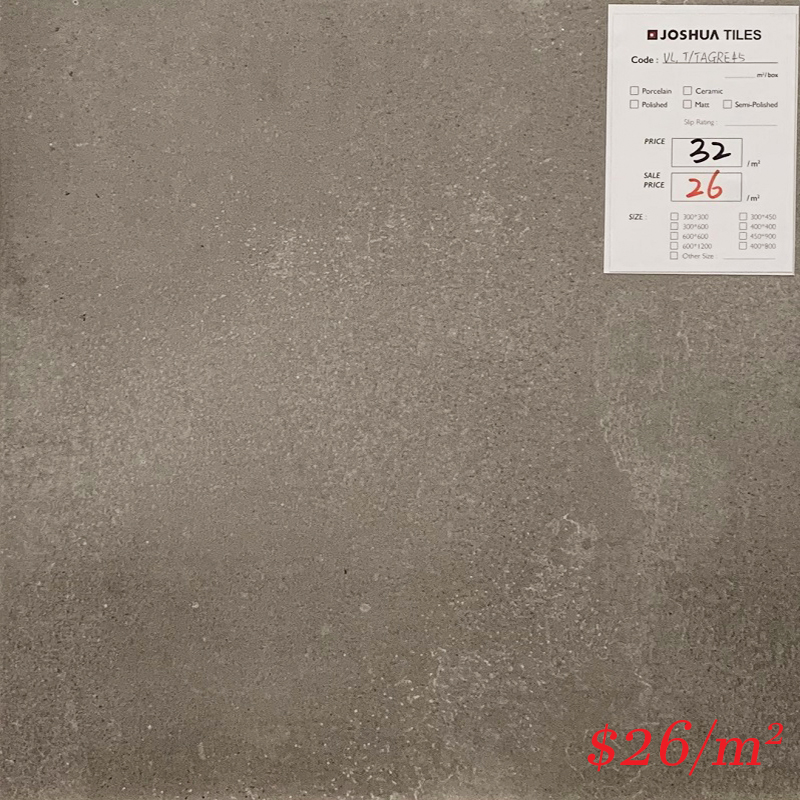 T/TAGRM45 MML TARONGA GRIGIO MATT 450*450MM