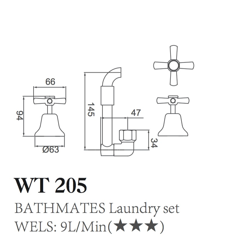 WT 205 BATHMATES Laundry Set