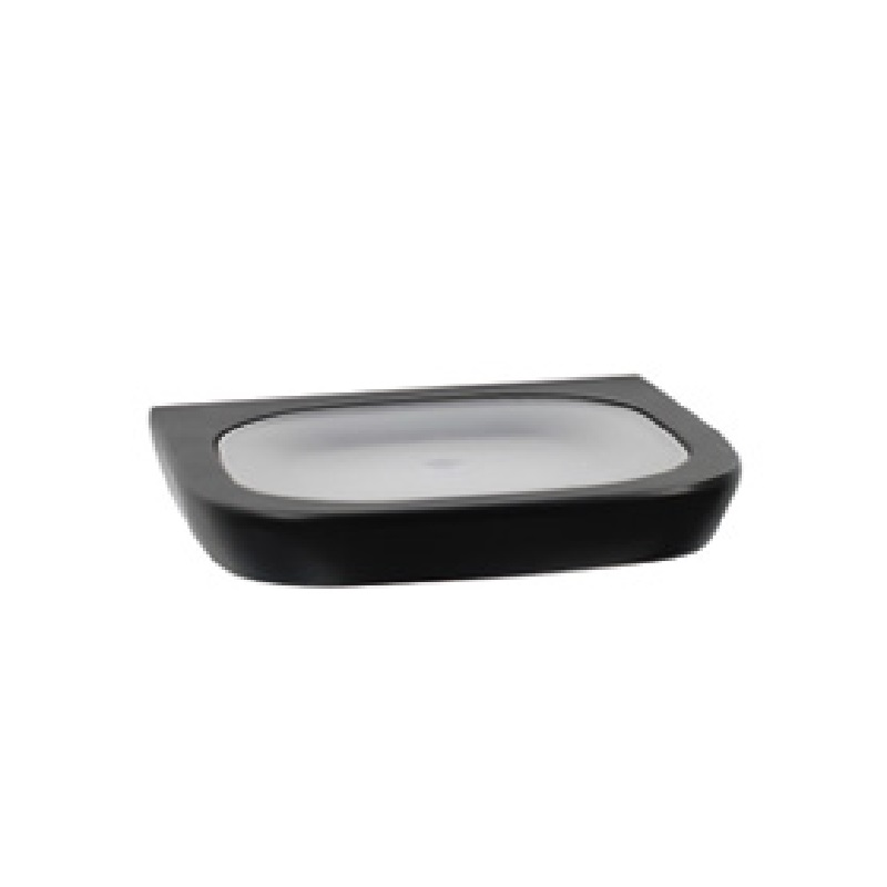 BP25034 NOIR Soap Dish with Glass Infill Matte Black Finish