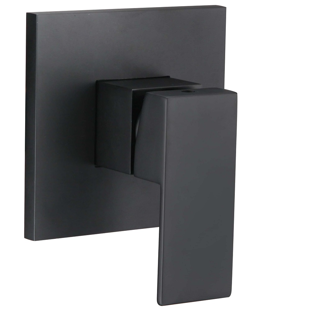 WT 806BK ACQUA BLACK Square Shower Mixer Matte Black Finish
