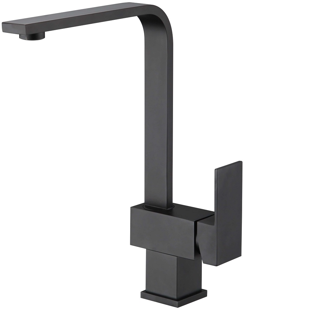 WT 9126BK ACQUA BLACK Square Kitchen Mixer Matte Black Finish