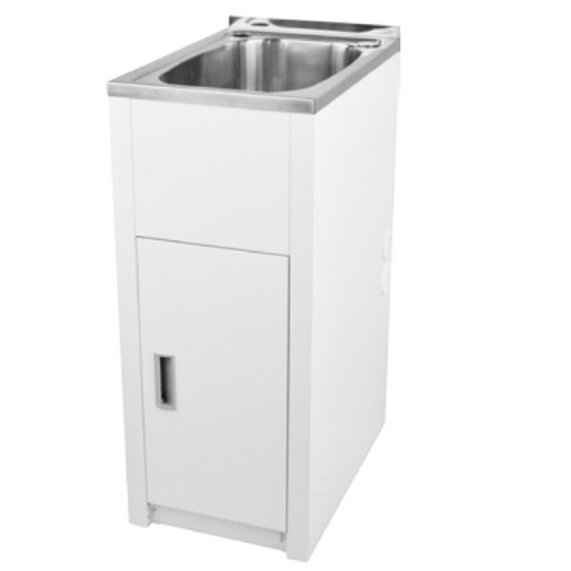 LD 3756 LAVASSA Single Slimline 30L Laundry Cabinet with Tub and 2 Holes