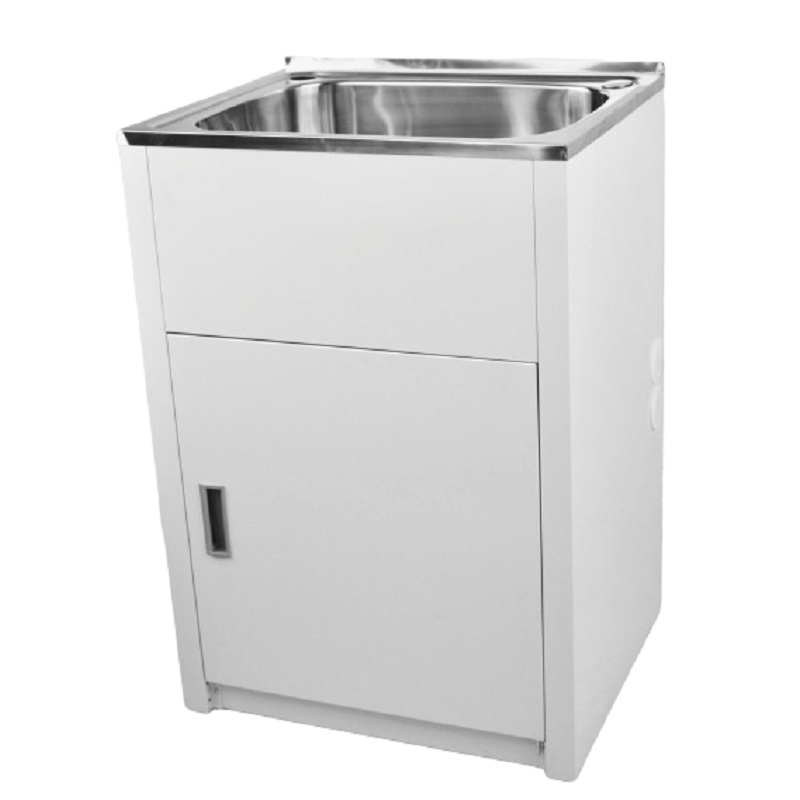 LD 6151 LAVASSA Single Slimline 45L Laundry Cabinet with Tub and 2 Holes